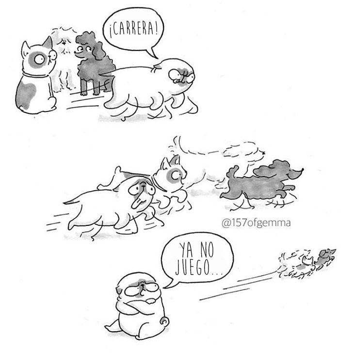Divertidas ilustraciones que solo los dueños de los Pug entenderán 07