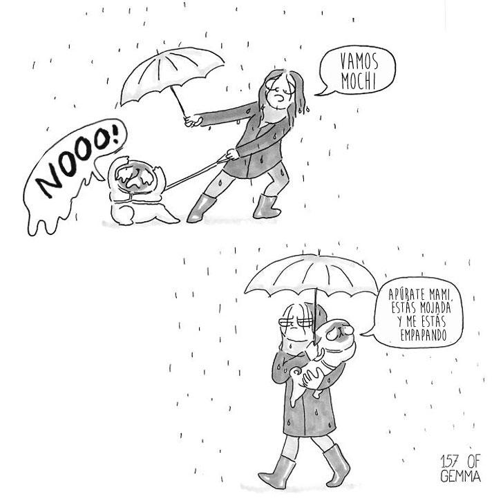 Divertidas ilustraciones que solo los dueños de los Pug entenderán 08