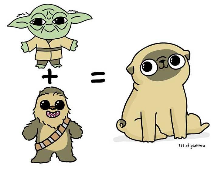 Divertidas ilustraciones que solo los dueños de los Pug entenderán pug
