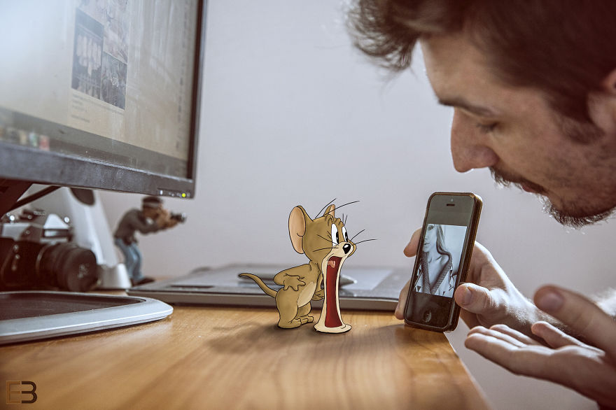Este hombre vive con Jerry y Nibles las más increíbles aventuras smartphone