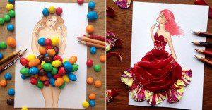 Este ilustrador junta moda con comida de una gran manera