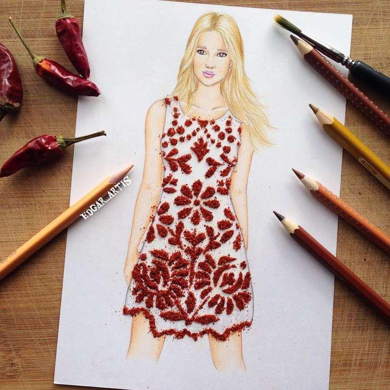 Este ilustrador junta moda con comida de una gran manera aji