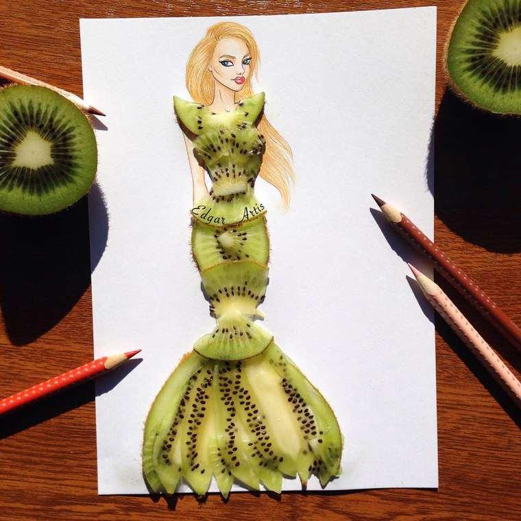 Este ilustrador junta moda con comida de una gran manera kiwi