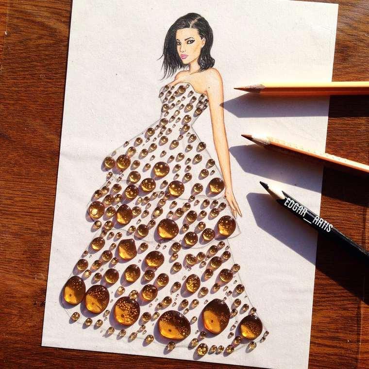Este ilustrador junta moda con comida de una gran manera miel