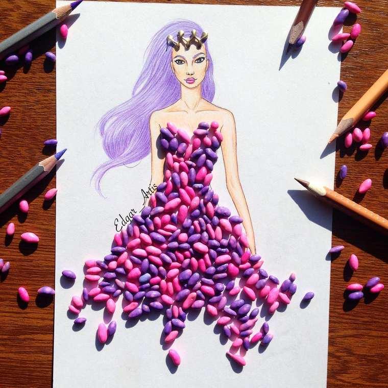 Este ilustrador junta moda con comida de una gran manera nerds