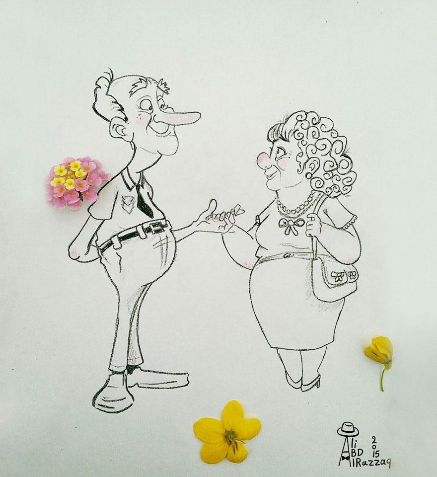 Este sujeto crea divertidas ilustraciones con objetos del día a día romance
