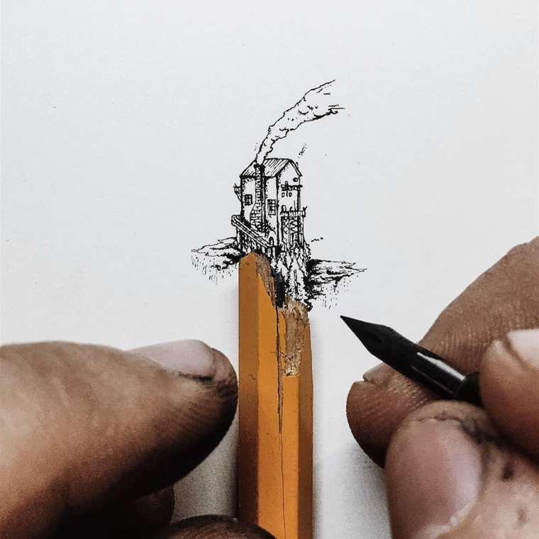 Ilustraciones de pequeños tamaños que sorprenden a lo grande casa