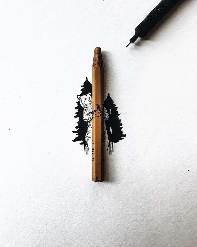 Ilustraciones de pequeños tamaños que sorprenden a lo grande escondido