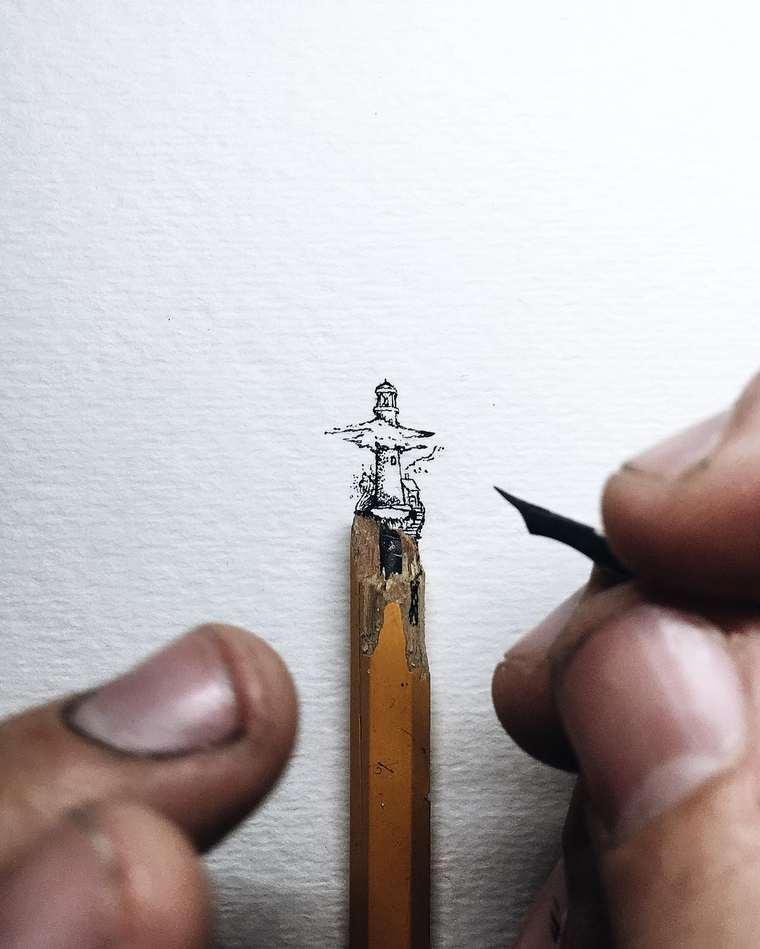 Ilustraciones de pequeños tamaños que sorprenden a lo grande faro
