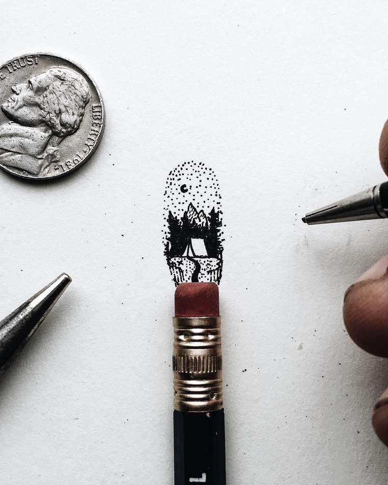 Ilustraciones de pequeños tamaños que sorprenden a lo grande noche