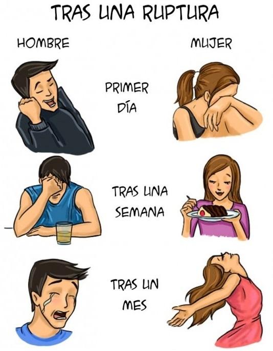 Ilustraciones que explican algunas diferencias entre hombres y mujeres b