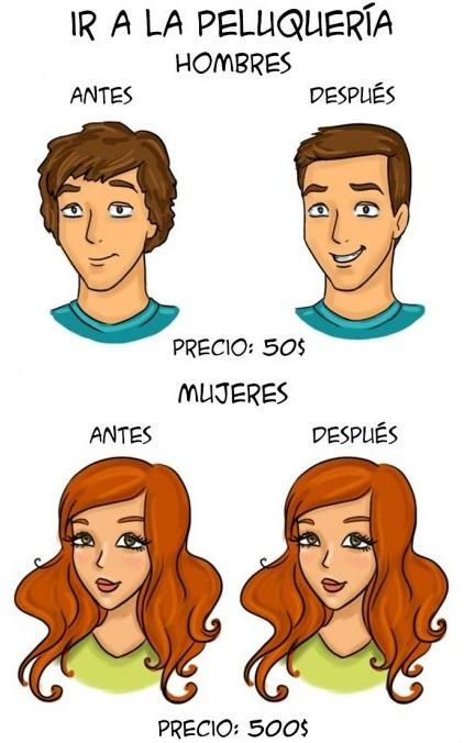 Ilustraciones que explican algunas diferencias entre hombres y mujeres f