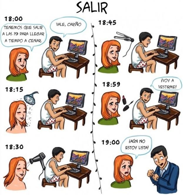 Ilustraciones que explican algunas diferencias entre hombres y mujeres j