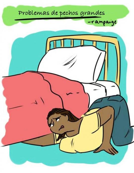 Ilustraciones que sólo las mujeres con pechos grandes entenderán buscando