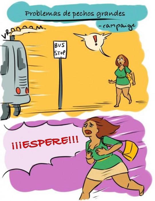 Ilustraciones que sólo las mujeres con pechos grandes entenderán corriendo