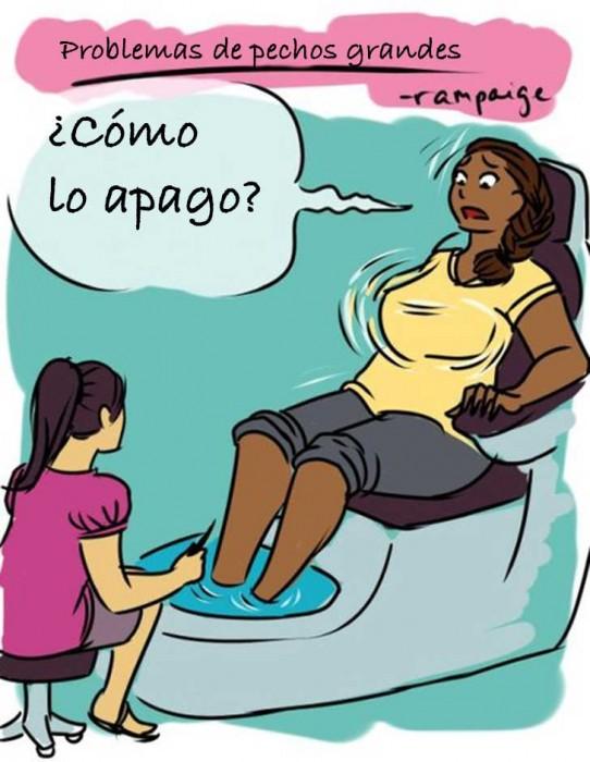 Ilustraciones que sólo las mujeres con pechos grandes entenderán masaje