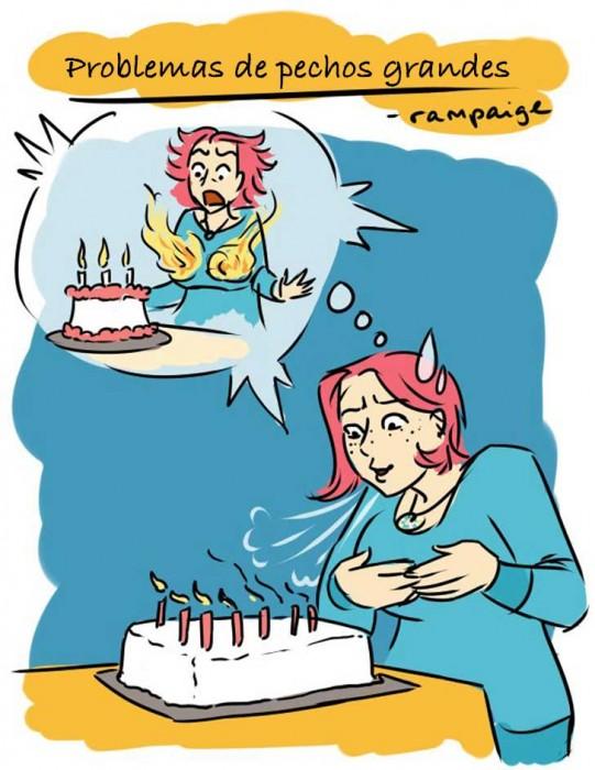 Ilustraciones que sólo las mujeres con pechos grandes entenderán velas