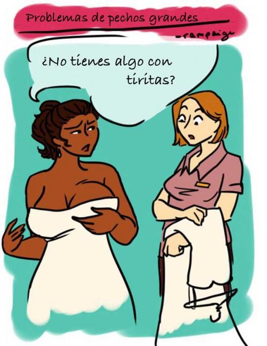 Ilustraciones que sólo las mujeres con pechos grandes entenderán vestidos