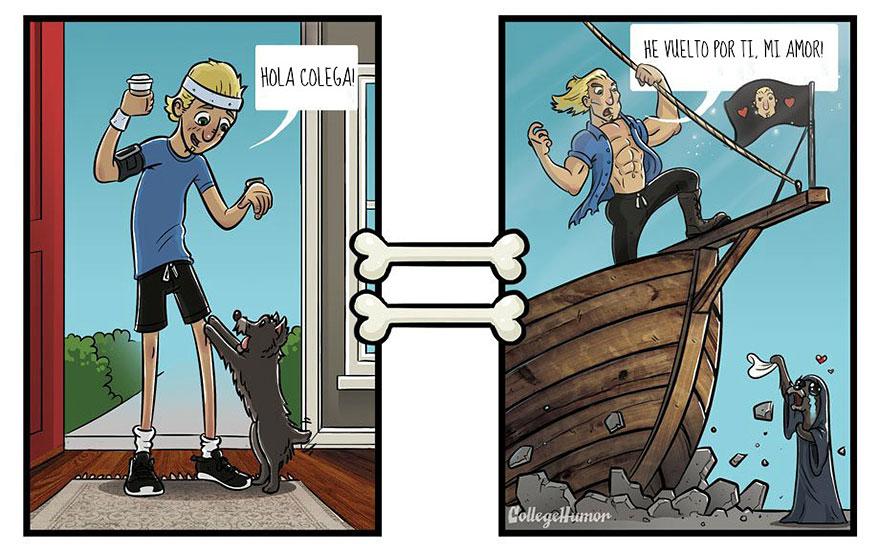 La perspectiva de un perro vs. la de un humano deportes regreso
