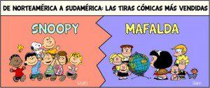 Mafalda vs. Snoopy. Conoce el mundo de estos asombrosos personajes en cifras