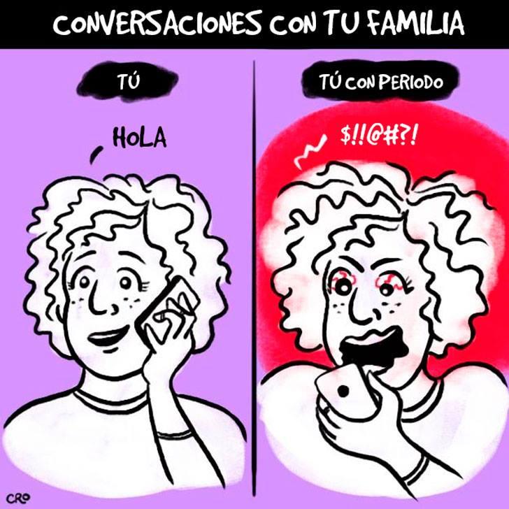 Situaciones que involucran al periodo y que las mujeres entenderán conversaciones