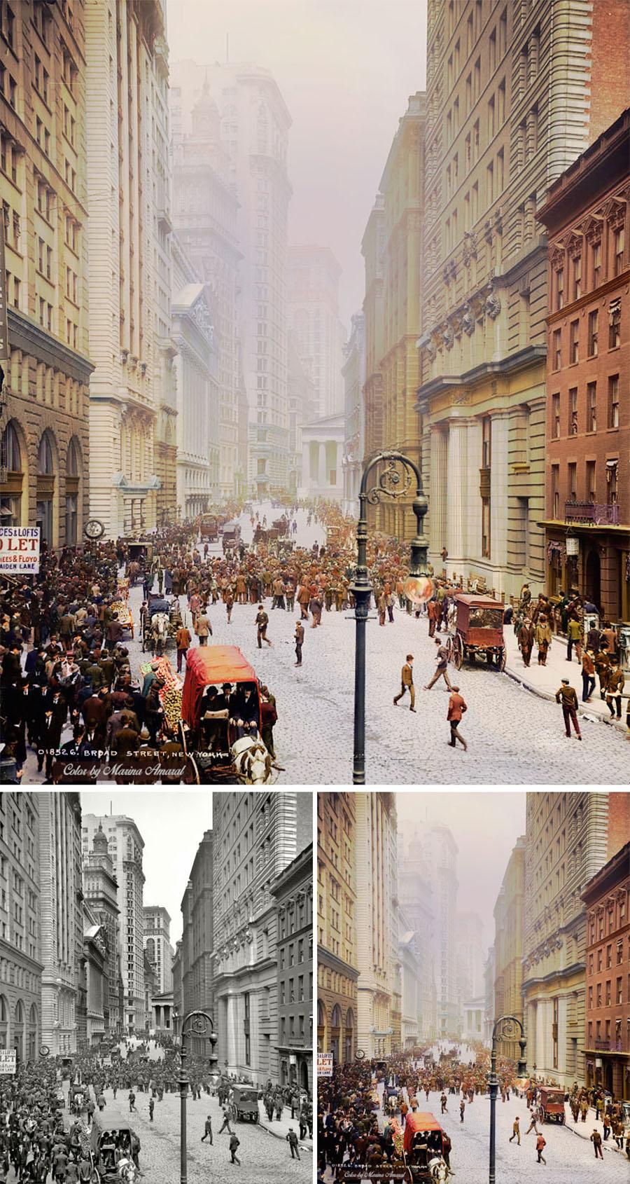 Un artista le da color a fotografías en blanco y negro y a la historia 09