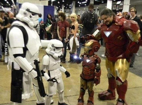Estos divertidos padres harían cualquier cosa por sus hijos star wars