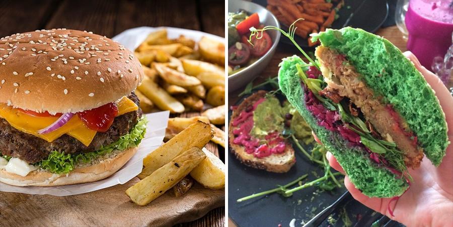 15 alimentos que consumimos a diario junto a su versión Hipster hamburguesa1