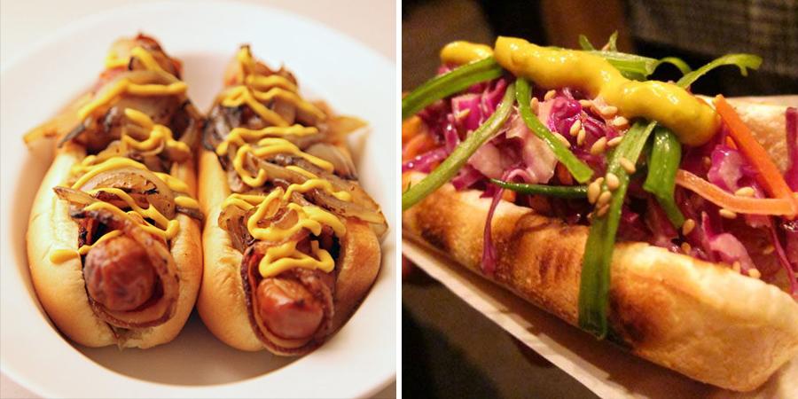 15 alimentos que consumimos a diario junto a su versión Hipster hot dog