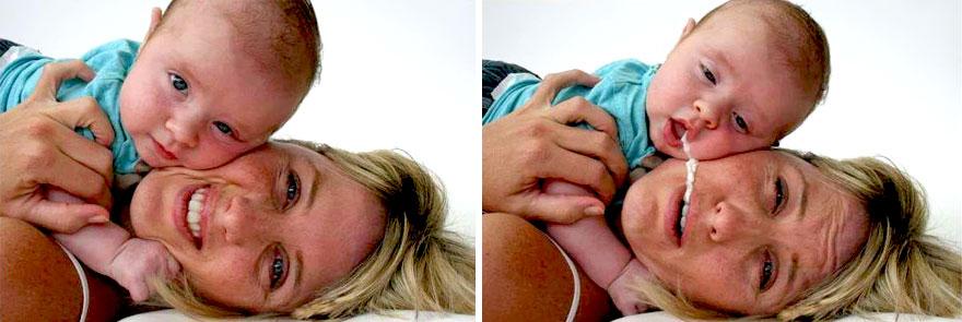 17 detrás de cámaras de las sesiones de fotos de bebés 10