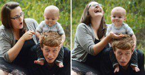 15 detrás de cámaras de las sesiones de fotos de bebés