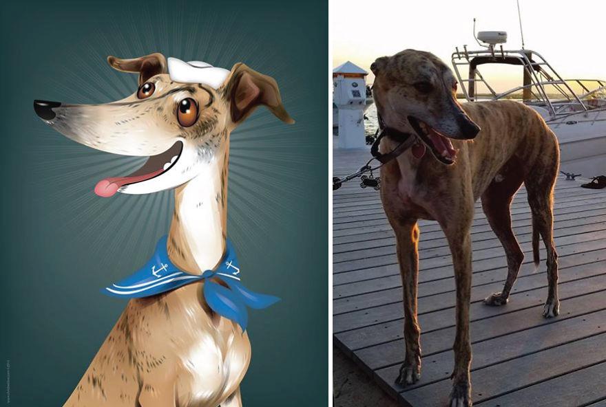 Artista crea divertidos retratos de mascotas según cómo sus dueños las describan 02