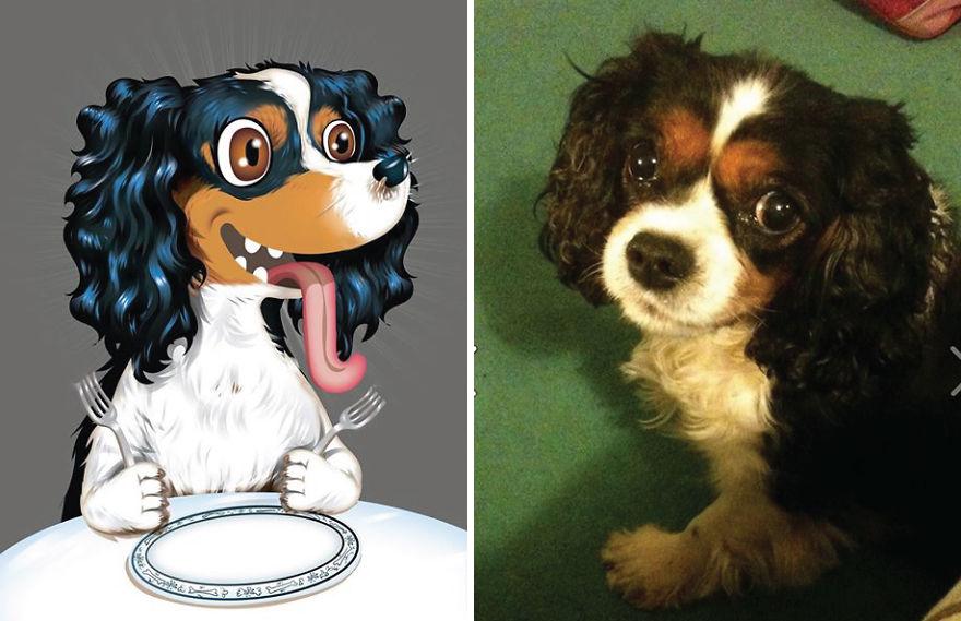 Artista crea divertidos retratos de mascotas según cómo sus dueños las describan 03