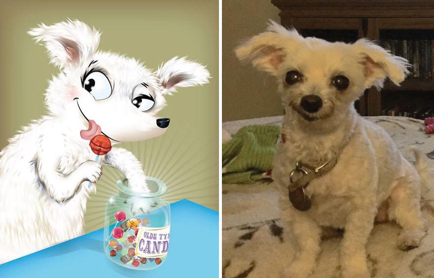 Artista crea divertidos retratos de mascotas según cómo sus dueños las describan 12