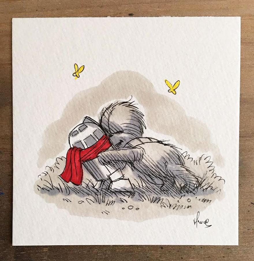 Artista reinterpreta personajes de Star Wars con los Winnie The Pooh 11