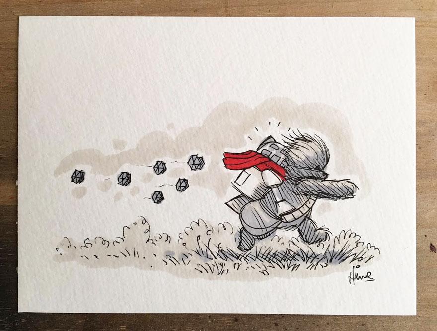 Artista reinterpreta personajes de Star Wars con los Winnie The Pooh 12