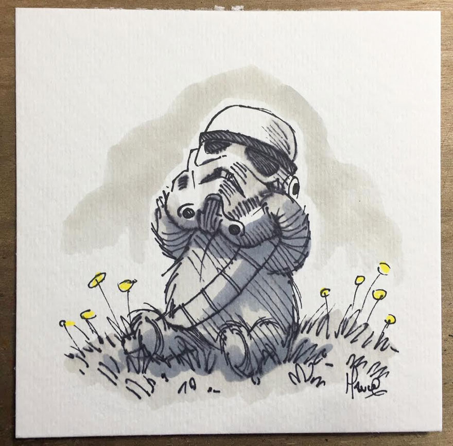 Artista reinterpreta personajes de Star Wars con los Winnie The Pooh 3