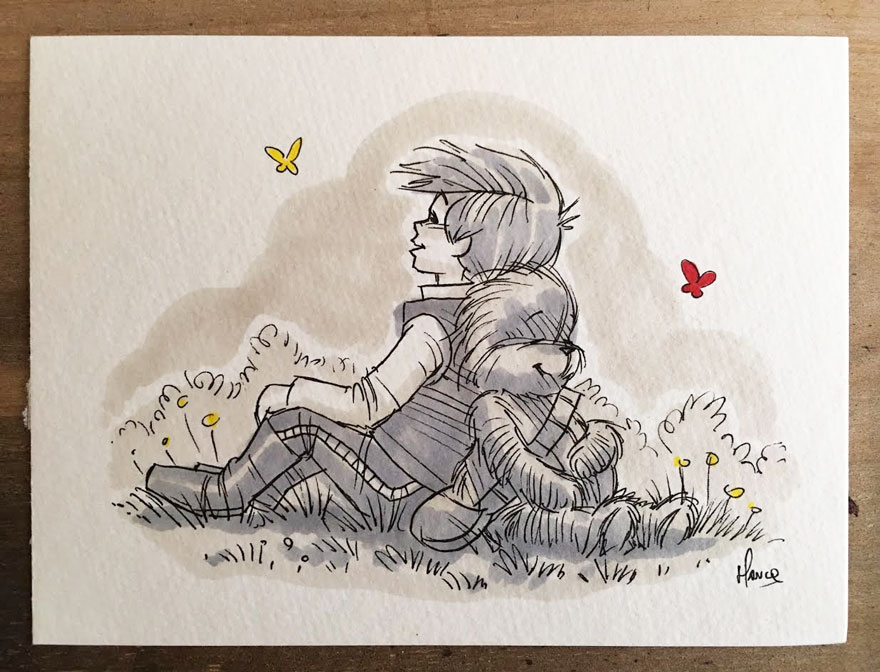 Artista reinterpreta personajes de Star Wars con los Winnie The Pooh 4