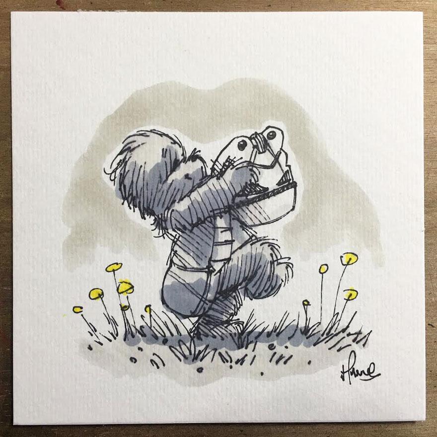 Artista reinterpreta personajes de Star Wars con los Winnie The Pooh 5