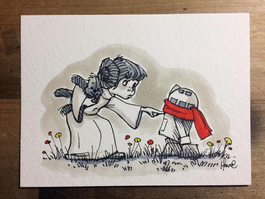 Artista reinterpreta personajes de Star Wars con los Winnie The Pooh 7