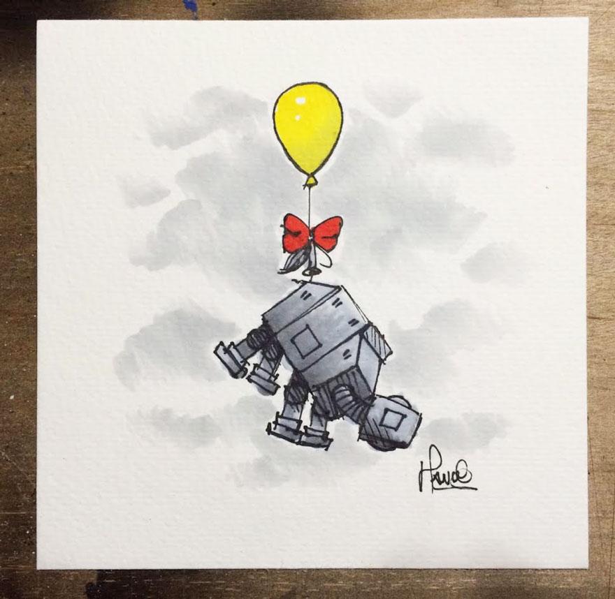 Artista reinterpreta personajes de Star Wars con los Winnie The Pooh 8