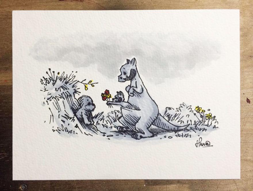 Artista reinterpreta personajes de Star Wars con los Winnie The Pooh 9
