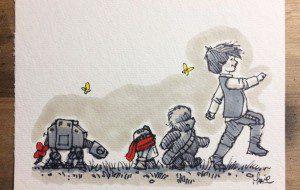 Reinterpretan personajes de Winnie The Pooh como los de Star Wars