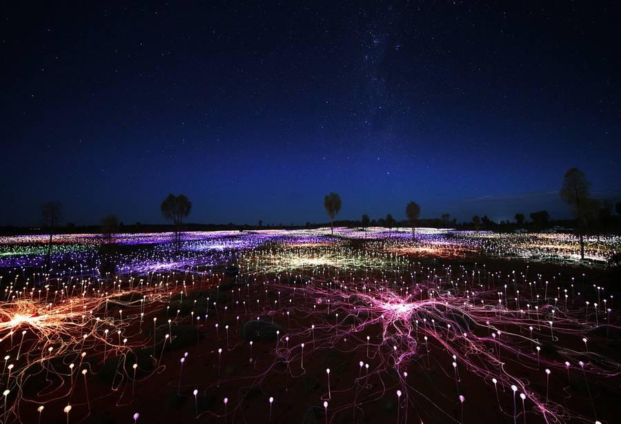 Bellos paisajes de luz por el artista Bruce Munro 22