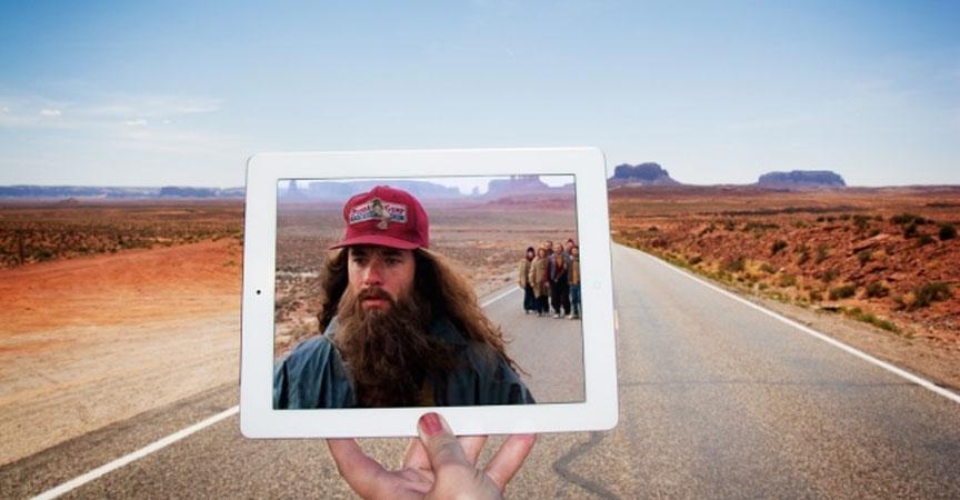 Blogueras fotografían lugares de películas famosas