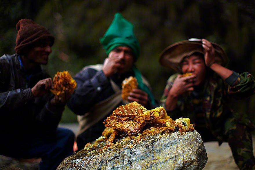 Cazadores de miel de los acantilados del Himalaya6