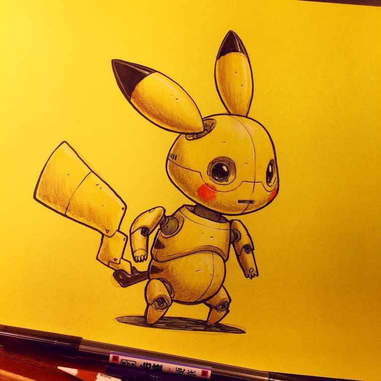 Cuando los íconos de la cultura pop se convierten en robots pikachu