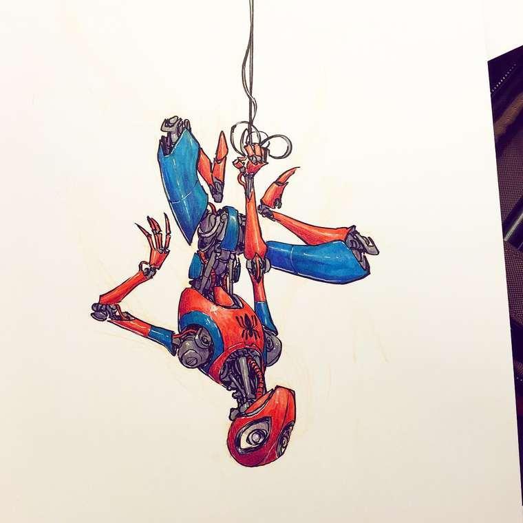 Cuando los íconos de la cultura pop se convierten en robots spiderman