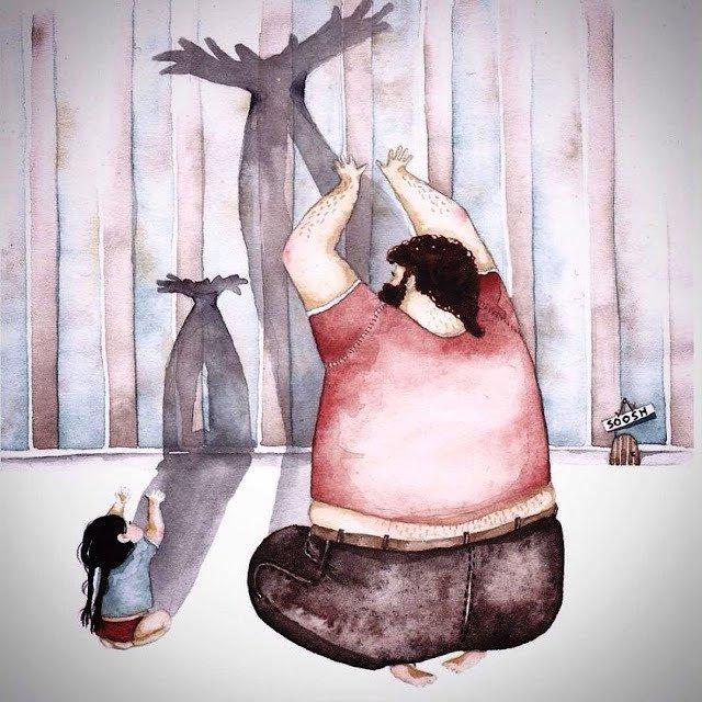 El amor de un padre por su hija mostrado en estas tiernas imágenes 10