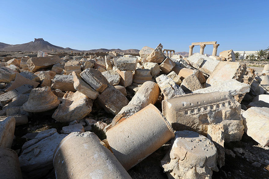 El antes y el después de importantes monumentos de Siria destruidos por ISIS cella 2